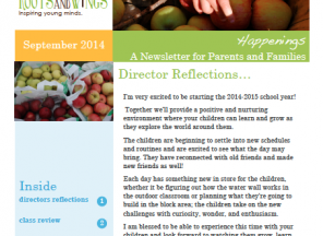 September Newsletter: Happenings